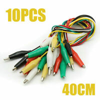 10Pcs/Set Double-ended Wire Crocodile Clips Testing Leads Wire Cable