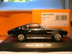 EXTREMELY RARE MAXICHAMPS 1/43 BLACK 1967 ASTON MARTIN DBS RHD SUPERB DETAIL NLA