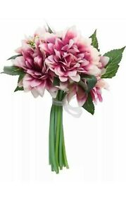 x4 Artificial Dahlia bouquet wedding silk flowers home table decor