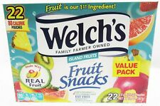 Welch's Island Fat Free Fruit Snacks Pouches 22ct .9 oz bags real fruit  Sweets