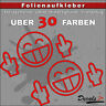 "2er SET - ""FUCK YOU"" Smilie Shocker Aufkleber Auto/Motorrad - 30 Farben - 10cm"