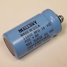 Mallory Capacitor CGS153U016R2L  15000uF 16Vdc Computer Grade