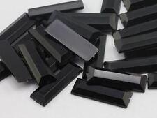 22x7mm Jet Black .JT Flat Back Baguette Acrylic Gems High Quality - 40 PCS