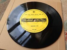 "BRENDA LEE SAVE ALL YOUR LOVIN FOR ME / ALL ALONE AM I 7"" FK 275 FESTIVAL"