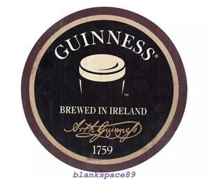 Metal Tin Sign round guinness brewed in ireland  Bar Pub Retro 30cm diameter