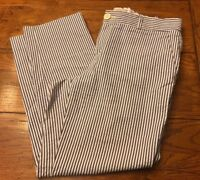 6S Banana Republic Martin Fit Blue and White Striped 100% Cotton Pants