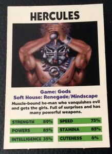 HERCULES GODS, MINDSCAPE GAMES MEGA DRIVE ADVANCED GAMING CARD EXCELLENT