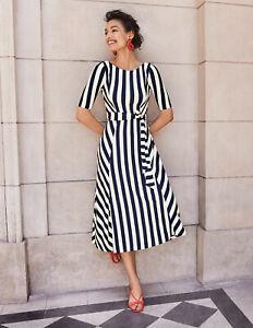 BODEN Damen Stretch Kleid-cleo belted jersey midi dress 12L 38
