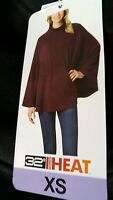 Womens XS Black 32 Degree Heat Fleece Poncho Sweater Cowl Neck NWT