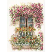 LANARTE  0171411  Balcon de fleurs  Kit  Broderie  Point de Croix  Compté