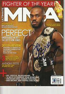JON BONES JONES Signed ULTIMATE MMA Magazine w/ Beckett COA (NO Label)