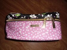Sophia Joy Cosmetic Bag Floral Pink New