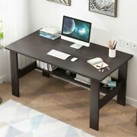 Computer Table Modern Desk Home Office Study Workstation Writing  w/Shelf Small