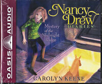 NEW Nancy Drew Diaries Mystery of the Midnight Rider Carolyn Keene Audio Book 3