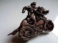 Cowboy Iron Horse Harley Davidson Motorcycle Pin Classic Factory US Biker Badge