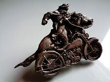 Cowboy Iron Horse Harley Davidson Motorcycle Pin Classic Factory US Biker Badge