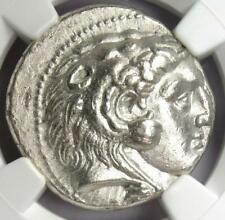 Alexander the Great III Seleucus I AR Tetradrachm Coin 336-323 BC - NGC AU