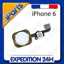 BOUTON HOME + NAPPE ASSEMBLÉ POUR IPHONE 6 ou 6 PLUS - BLANC / OR