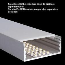 Alu Profil Led breit 2m Aluminium ideal für Led Streifen 6cm Einbauprofil