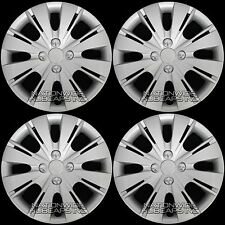 "4 New 2006-17 Toyota Yaris 15"" Hub Caps Wheel Rim Covers Snap On 4 Bolt Lug Hubs"