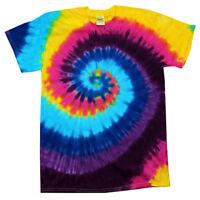 Multi-color Spiral Carnival TIE DYE T-SHIRT mens womens SIZE S M L XL 2X 3X