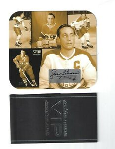 2003 ITG IN THE GAME VIP SERIES JEAN BELIVEAU COLLAGES AUTOGRAPH 3013 / 6000