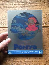 PONYO UK STEELBOOK STUDIO GHIBLI BLU-RAY/DVD SEALED