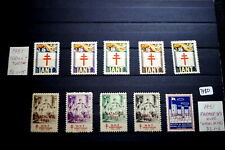 #7380,Seldom Seen MNH Portugal Tuberculosis Stamps Some Overprints 1951
