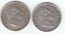 TWO coins British India 1835 one rupee silver King William A GOOD GRADE