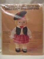 NIP Vintage 1980 Campbell Soup Kid Kit Stuffed Girl Doll Advertising Collectible