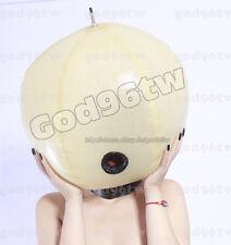 100% Latex Rubber Maske Hood Aufblasbar 0,8mm Catsuit