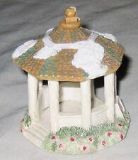 "Village White 3"" Trackside GAZABO House Figurine"