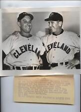 Original 1955 Gene Woodling & Al Lopez Wire Photo