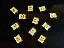 Nail Art 3D Metal Alloy Gold Glitter Logo Decoration 10pc (White)