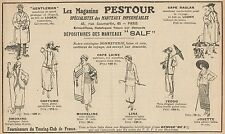 Y7068 Magasins PESTOUR - Mantaux SALF - Pubblicità d'epoca - 1922 Old advert