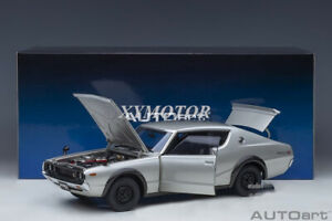 AUTOART 1/18 Nissan Skyline GT-R KPGC110 Diecast model Car Toys Gifts Silver