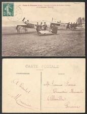 1912 Aviation Postcard - France, Airplane - Sissone - Captain Bellanger
