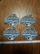 4 lot 2003 MLB World Series Sleeve Patch sewn iron on Yankees Florida Marlins 2""
