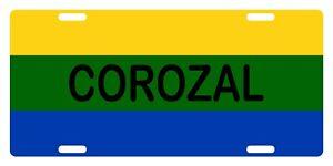 "COROZAL Flag Puerto Rico Municipio 6"" X 12"" License Plate PR Boricua Emblem II"