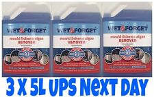 3 X 5L WET AND FORGET MOULD, ALGAE AND LICHEN REMOVAL  MAKES 30L BRAND NEW STOCK