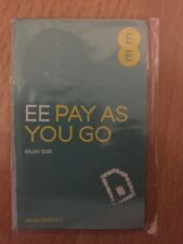 EE 4g Pay as You Go Multi SIM With of Credit