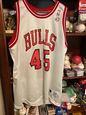 100% Authentic Michael Jordan Vintage Champion Bulls 45 Jersey Size 48
