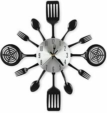 16 Inch Large Kitchen Wall Clocks with Spoons and Forks,Great Home Decor