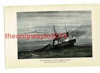 Wreck of H.M.S  Birkenhead, Book Illustration (Print), 1934