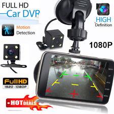 "UK 4"" Dual Lens Camera HD 1080P 170° Car DVR Video Dash Cam Front Rear Recorder"
