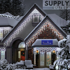 Snowtime 300 Connectable ICEWHITE LED Snowing Icicle Lights Christmas Outdoor 6M