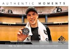17/18 SP AUTHENTIC MOMENTS #102 SIDNEY CROSBY PENGUINS 1000 POINTS *52855