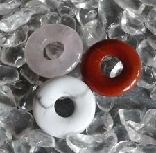 roter Jaspis rot Rosenquarz Magnesit Donut Scheibe 15 mm