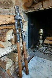 """Antique BOLT CUTTER CHAMBERS BRO & CO """"NEW NO 1"""" Pat. Apr 4, 1870 Machinist Tool"""