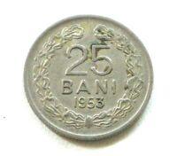 ROUMANIE RARE  25 BANI 1953 MONNAIE DE QUALITÉ !!!  Lot SCHT-95